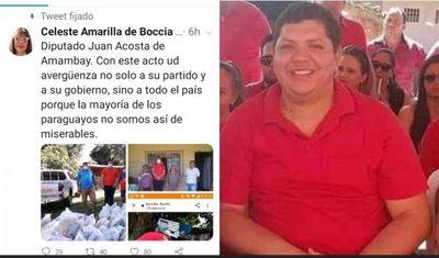 Diputada Celeste Amarilla a Juancho Acosta: Usted avergüenza a su partido y a su gobierno