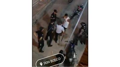 Hombre que agredió a Comisario fue detenido y puesto a disposición de la Fiscalía
