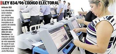 Diputados evalúan  hoy extender  el  mandato de intendentes municipales