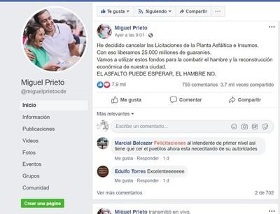 """Ante denuncias de NEGOCIADO, intendente de CDE """"CANCELO"""" proceso sobre PLANTA ASFALTICA"""
