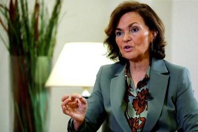 La vicepresidenta española, hospitalizada