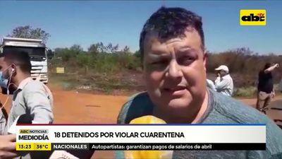 Concepción: 18 detenidos por violar cuarentena