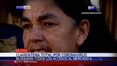 HOY / Entre lágrimas, vendedora del Mercado 4 habla de la crisis económica por el Covid-19