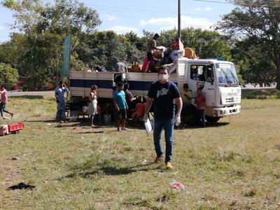 INDI trasladó voluntariamente a indígenas apostados cerca del cruce de Coronel Oviedo
