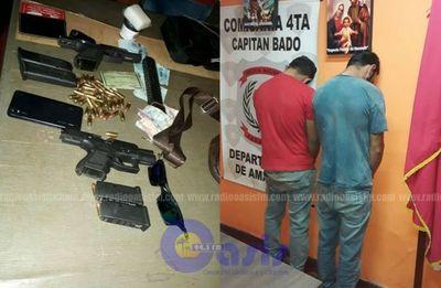 Brasileños fueron detenidos con armas y por incumplir cuarentena en Cápitan Bado