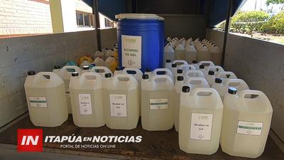 GOBERNADOR RECIBIÓ DONACIÓN DE  LOTE DE  ALCOHOL PARA DESINFECCIÓN.