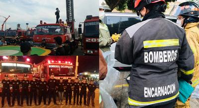 BOMBEROS DE ENCARNACIÓN CUMPLEN 40 AÑOS DE SERVICIO.