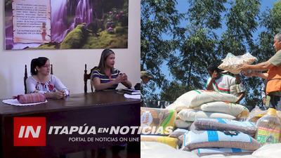 MUNICIPIO DE SAN JUAN DEL PARANÁ COORDINA LISTA PARA KITS ALIMENTARIO.