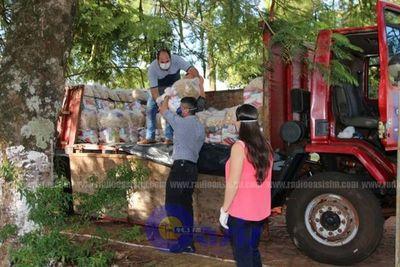 Gobernación de Amambay distribuye kit de alimentos en los distritos del Departamento