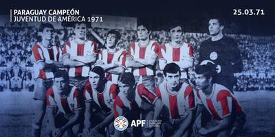 Paraguay recuerda su consagración en el Sudamericano de 1971