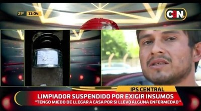 IPS: Suspenden a limpiador por reclamar insumos de protección