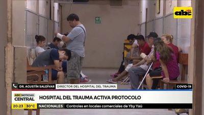 Covid-19: Hospital de trauma activa protocolo