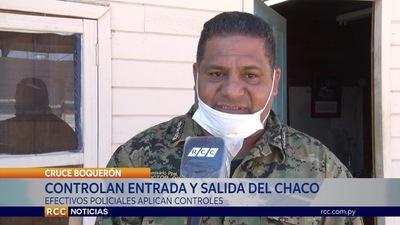 CONTROL DE ENTRADA Y SALIDA SOBRE LA RUTA TRANSCHACO / CORONAVIRUS COVID 19