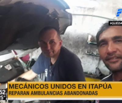 Mecánicos se unen para reparar ambulancias en Itapúa