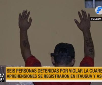 Seis detenidos por violar cuarentena en Itauguá y Asunción