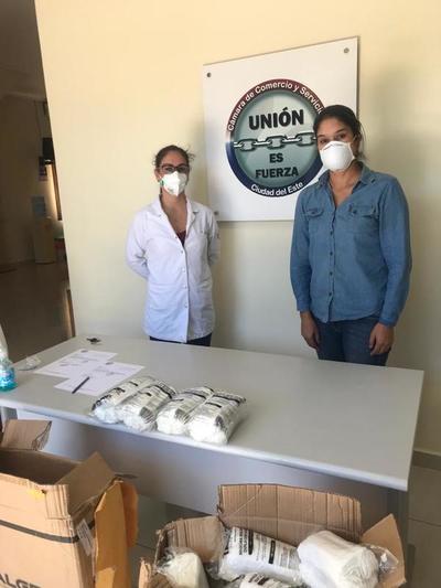 Comerciantes donan más de 6.500 tapabocas a médicos del Alto Paraná