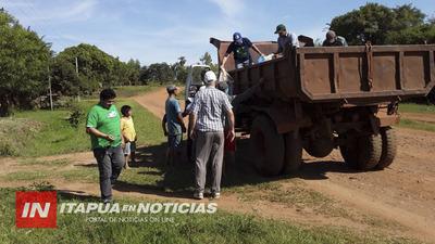 CNEL. BOGADO: AGRICULTORES DONARON ALIMENTOS A FAMILIAS NECESITADAS EN LA CIUDAD