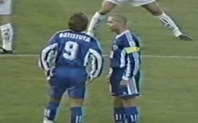 VIDEO: El día en que Ronaldo y Batistuta rompieron redes juntos