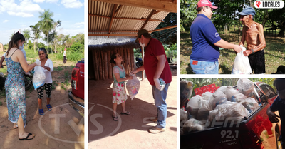 En San Pedro del Paraná comerciantes entregaron 100 kits de alimentos a familias vulnerables