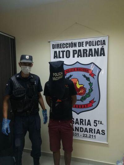 Detenido con motocicleta hurtada