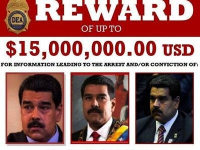 EEUU ofrece USD 15 millones por la captura de Maduro