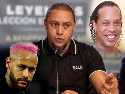 Roberto Carlos tira un guiño a Neymar y fuerzas para Ronaldinho