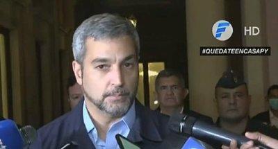 """Mario Abdo: """"Las excepciones de circulación serán mínimas"""""""