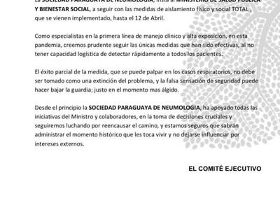 Cuarentena: Neumólogos advierten que no se debe bajar la guardia