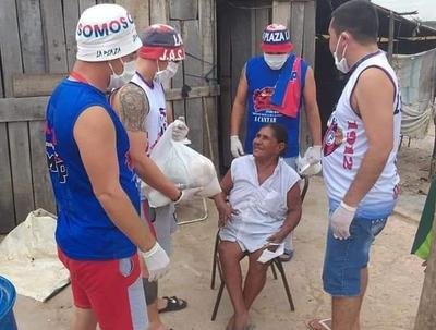 Hinchas de Cerro ayudan a familias carenciadas del norte