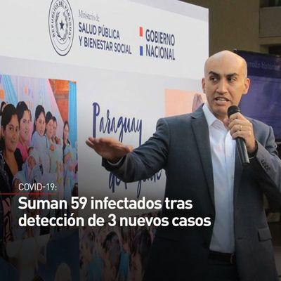 Aumenta a 59 el número de infectados en Paraguay