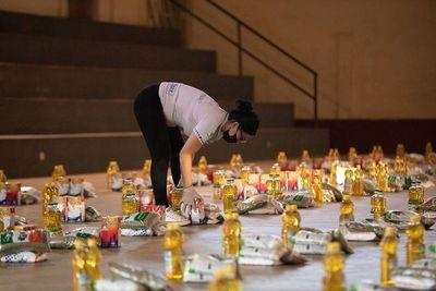 Continúa entrega de víveres en Presidente Franco