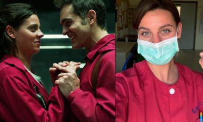 """Actriz de """"La casa de papel"""" brinda apoyo contra el coronavirus como enfermera en hospitales"""