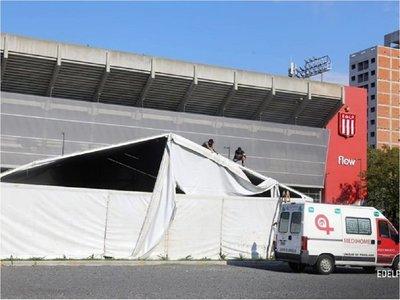 Construyen un hospital de campaña en el estadio de Estudiantes de La Plata