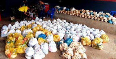 Caazapá: Comunicadores entregaron 530 kits de alimentos a familias vulnerables