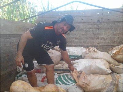 Envían cerca de 10.000 kilos de productos agrícolas a Cordillera