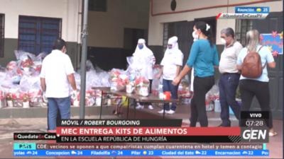 HOY / MEC inicia entrega de kits de alimentos en escuelas y colegios