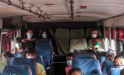 HOY / Buses permisionarios de Asunción solo alzarán a pasajeros que tengan tapabocas