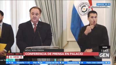 HOY / Conferencia de prensa de gobernadores tras reunión en el Palacio de Gobierno con el presidente de la República