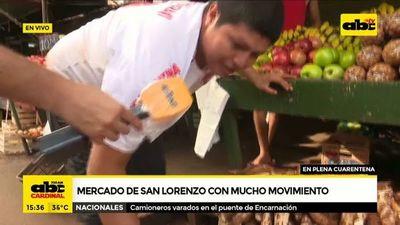 Covid-19: Mercado de San Lorenzo con mucho movimiento