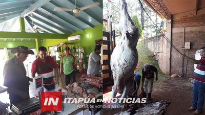 REGALÓ UNA VACA Y REPARTIERON LA CARNE EN SAN BUENAVENTURA