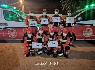 Bomberos de la UREC de Capiatá claman por víveres para las guardias