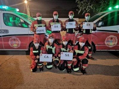 Bomberos de Capiatá claman por tapabocas, guantes y víveres