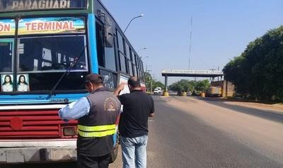 Dinatran suspende servicio de transporte público durante la Semana Santa