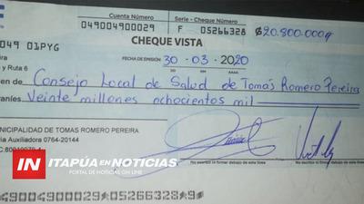 IMPORTANTE APORTE ECONÓMICO AL CONSEJO DE SALUD DE MA. AUXILIADORA