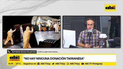 Canciller aclara que no hay ninguna donación taiwanesa de respiradores