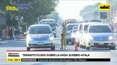 Tránsito fluido sobre la avenida Eusebio Ayala