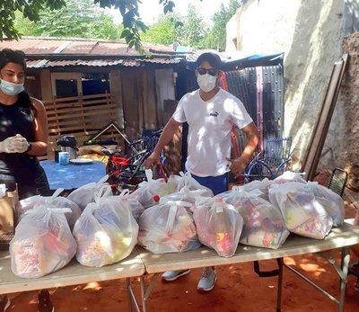 Iván Torres brinda una mano a familias de Ñemby