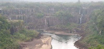 Las Cataratas del Yguazú sin su majestuoso espectáculo