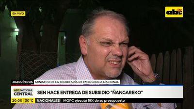 "SEN hace entrega de subsidio ""Ñangareko"""
