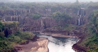 Yguazú, con bajísimo caudal